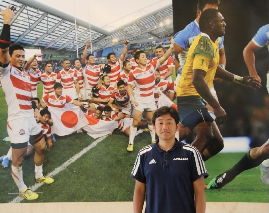 「福島の人たちにとって、サッカーW杯日韓大会のアルゼンチン代表の印象は強烈です」と話すJヴィレッジの高名祐介さん