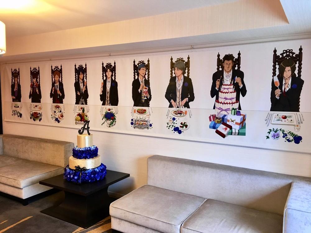 サンシャインシティプリンスホテルでは跡部の他にも氷帝学園のキャラクターが出迎える(ハンドルネーム:白鳥多香子さん撮影)