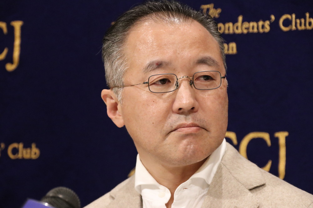 山口敬之氏(写真は2019年12月19日、日本外国特派員協会での会見)