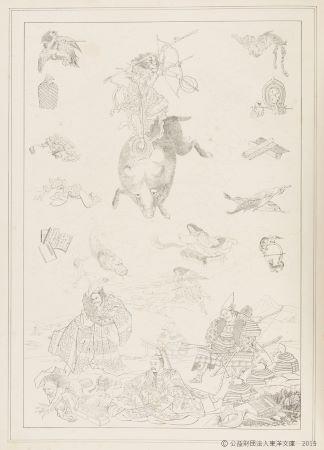 出典:『NIPPON』シーボルト 著 1852(嘉永5)年 オランダ 6巻/葛飾北斎 画 1802(享和2)年