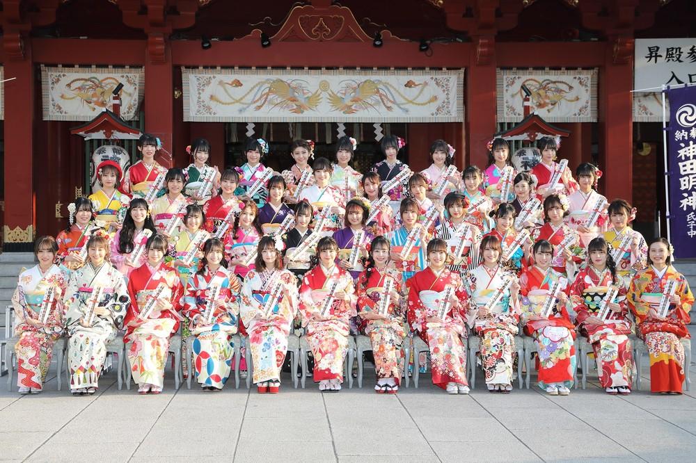 42人のAKB48グループメンバーが成人式イベントに参加。今回の世代は「令和出発世代」と命名された