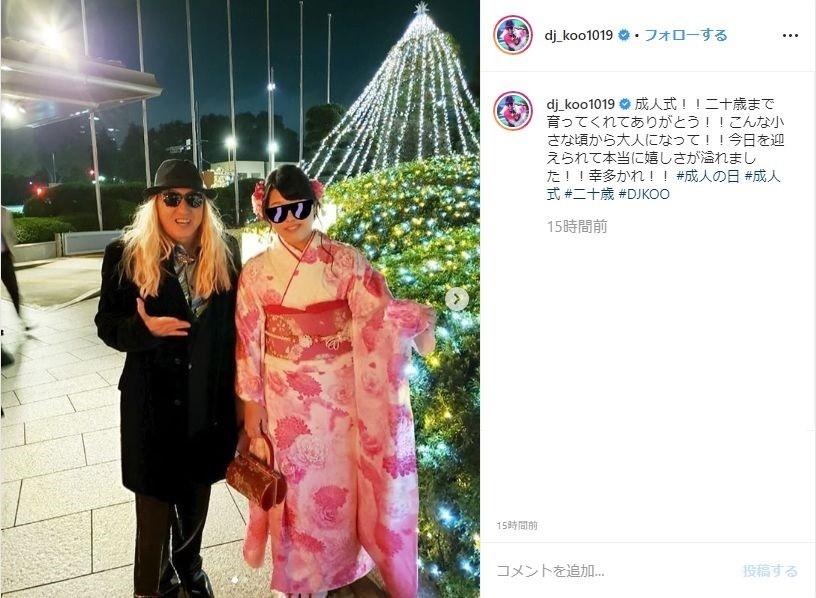 DJ KOO、愛娘が新成人 「二十歳まで育ってくれてありがとう!!」