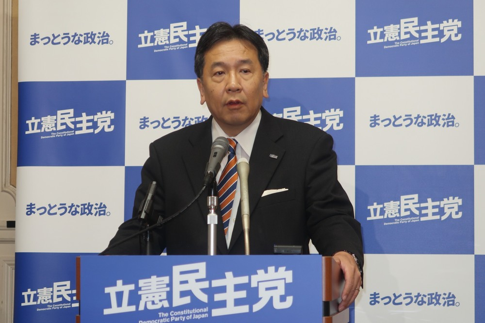枝野氏、共産党NO広告を「存じ上げない」? 立憲・国民、両代表の苦しいコメント