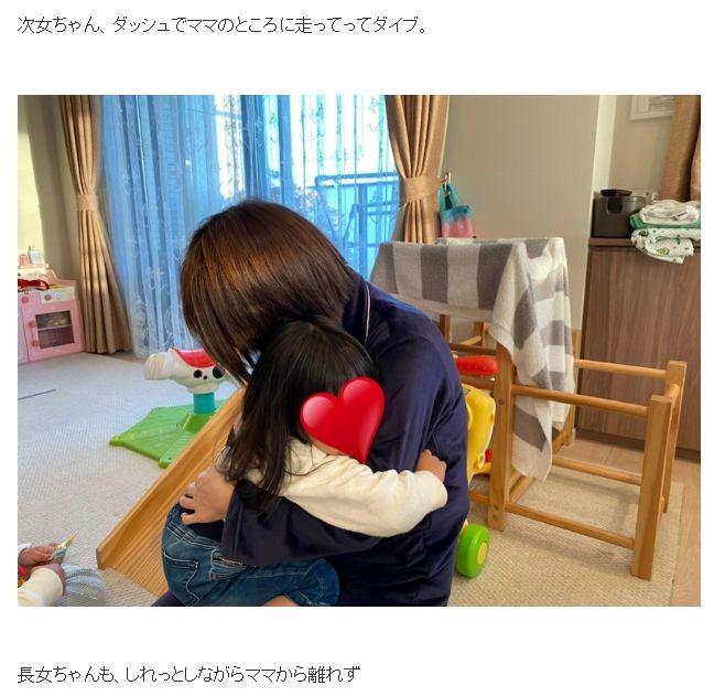 「次女ちゃん、ママのところに走ってってダイブ」 ノンスタ石田、妻と娘の「再会」に涙
