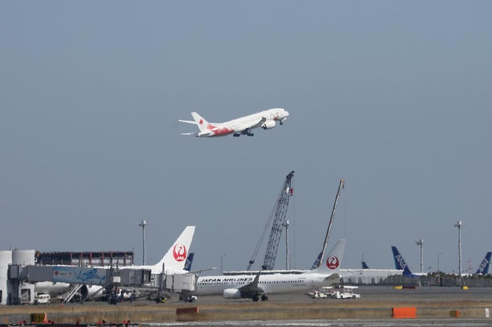 特別機は13時過ぎに羽田空港を離陸した