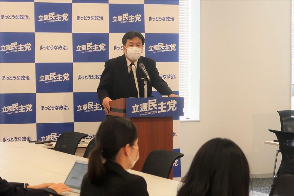 枝野氏、消費減税やはり消極的「今論じている時期ではない」 党内から提言出るが...