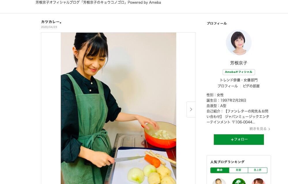 芳根京子、カツカレーづくりに挑戦 「パワーをつけていこう!」