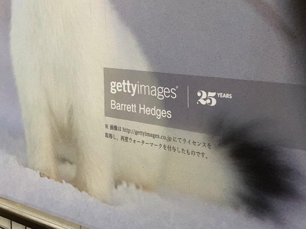 ハンドル名「もにゃゐずみ」さん提供、東京メトロ・表参道駅に掲示された広告
