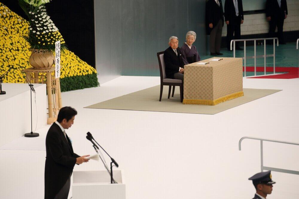 2016年8月、戦没者慰霊式で式辞