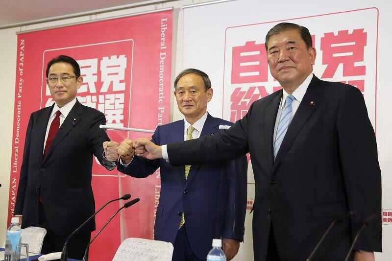 自民党総裁選、3候補が語る「ネット活用」 石破氏、菅氏、岸田氏...反応は三者三様
