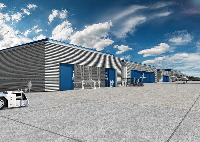 下地島空港には宇宙機用のハンガー(格納庫)が整備される予定だ(写真提供:PDエアロスペース)