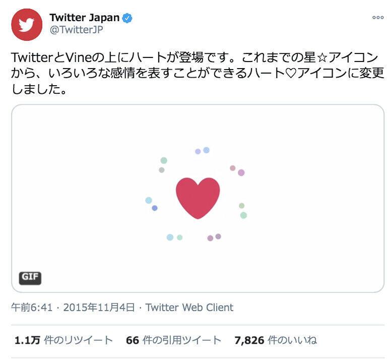 画像はツイッタージャパンの投稿から