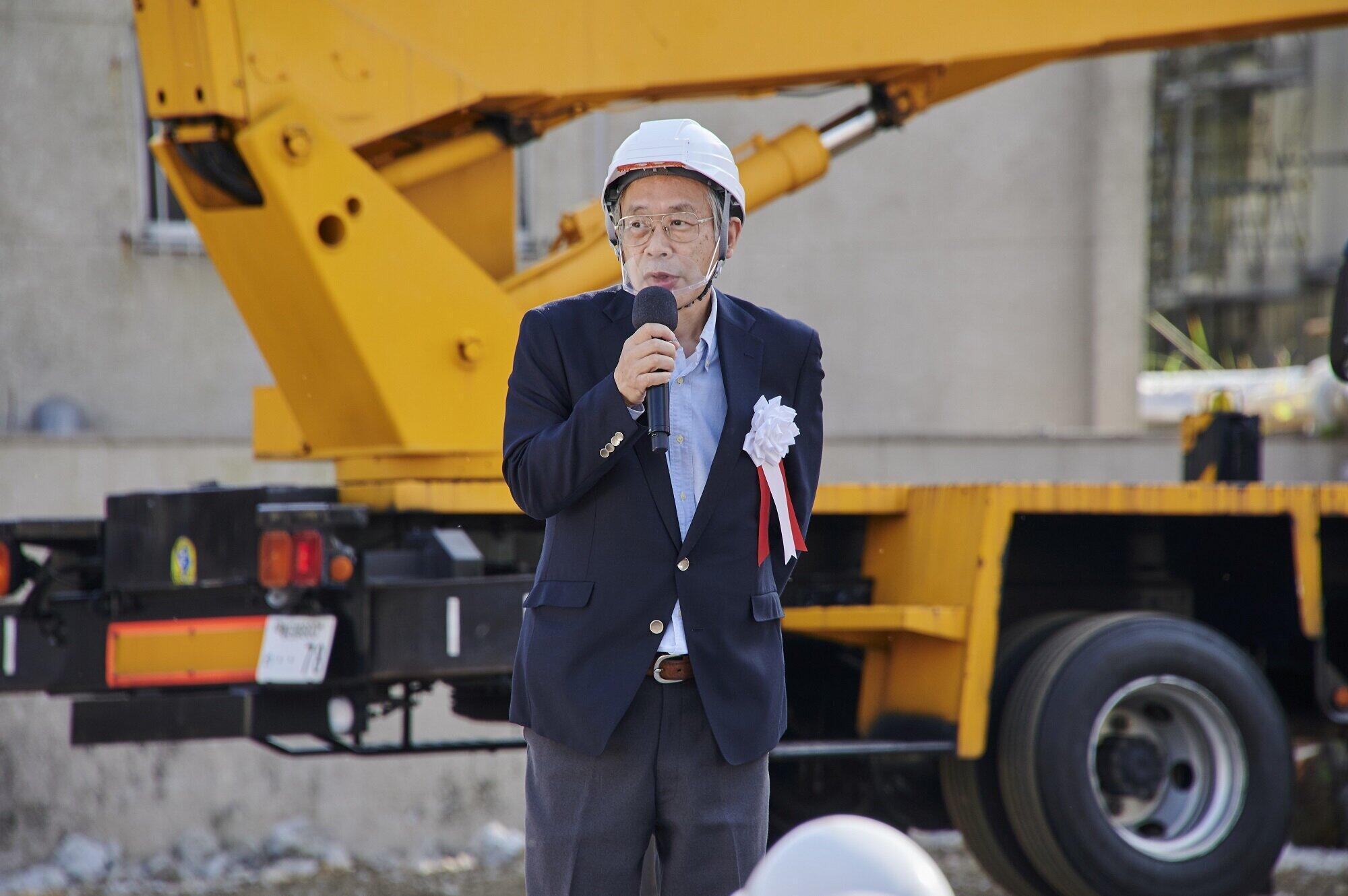 イベントに出席した石神井公園団地マンション建替組合理事長の黒河内剛さん