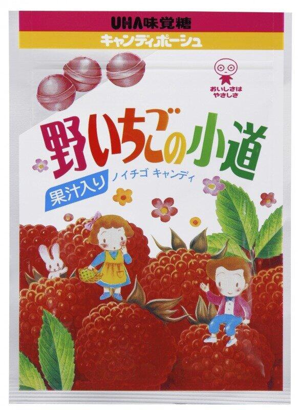 UHA味覚糖野いちごの小道(同社提供)