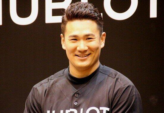 楽天復帰を発表した田中投手