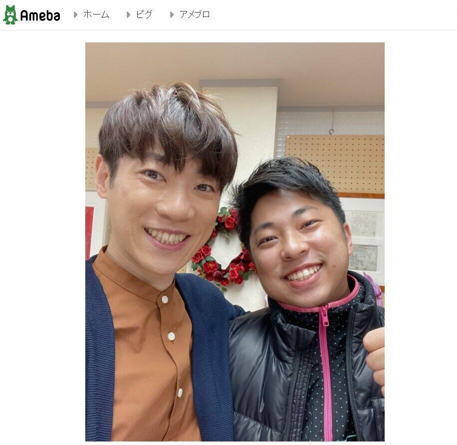 横山だいすけさんが自身のブログ(Ameba)で披露した「兄弟写真」。