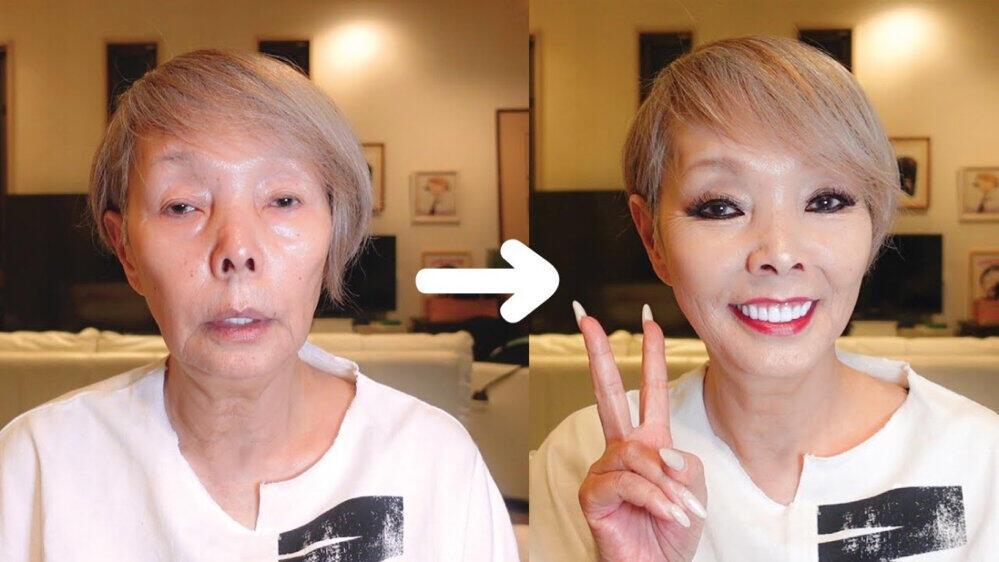 研ナオコが21分のメイク動画を公開(YouTubeチャンネルより)
