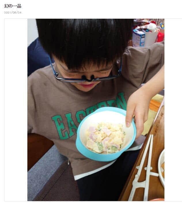 ポテトサラダ。山田さんのブログより