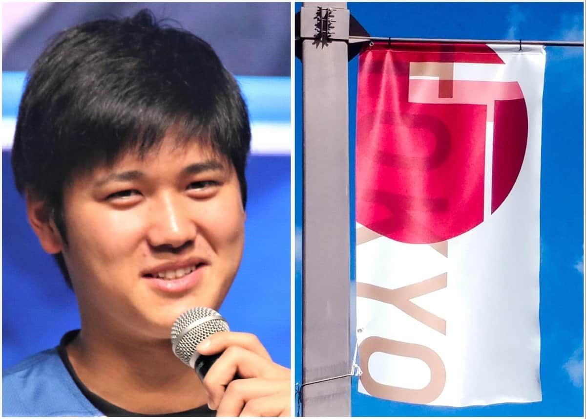 大谷翔平選手(2017年)と東京五輪・パラリンピックの旗(2021年)