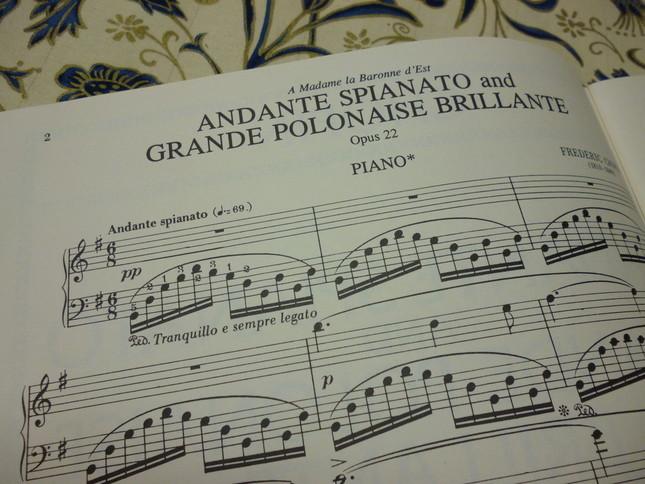 「日常は音楽と共に」 ショパンの青春の旅立ち「アンダンテ・スピアナートと華麗なる大ポロネーズ」