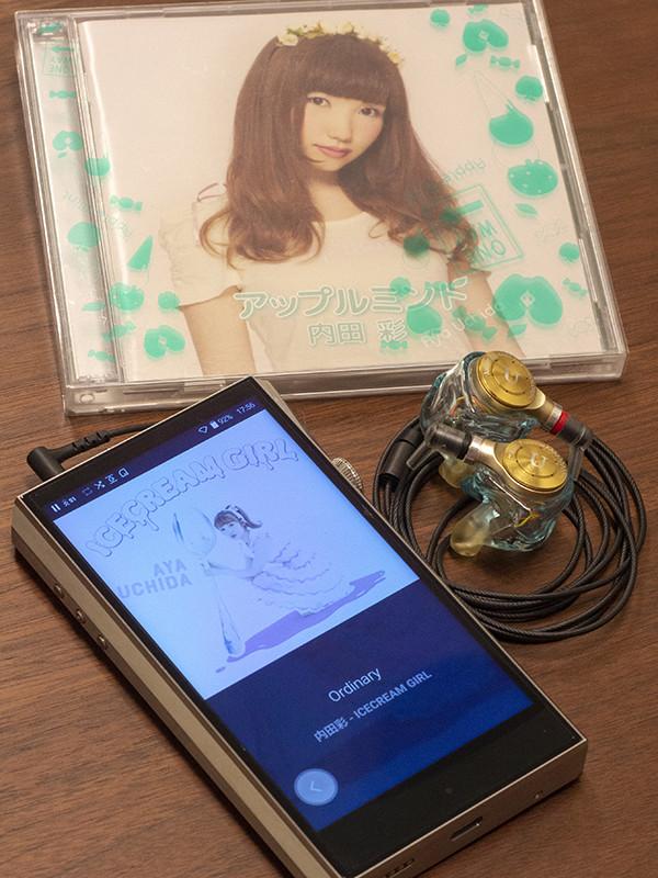 内田彩さんの声を最も響かせるコンポーネントとしてたどり着いたのが、MH1 Aya~COLORS~とSP1000の組み合わせ。