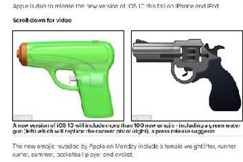 iPhoneの「emoji」が水鉄砲に 銃規制の訴えに配慮か