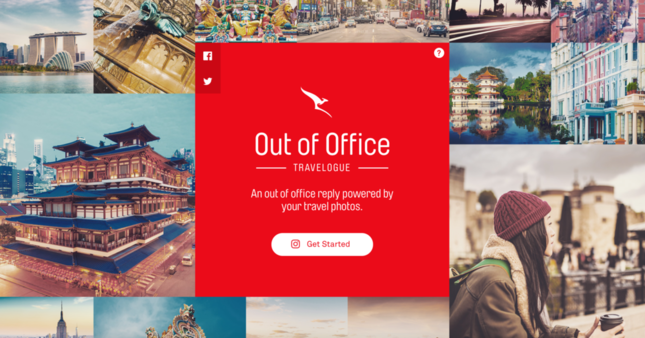 不在メールを面白くするカンタス航空の「Out of Office - Travelogue」
