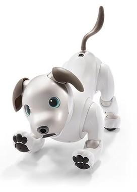 ソニーの家庭用ロボット犬「aibo」(画像はニュースリリースから)