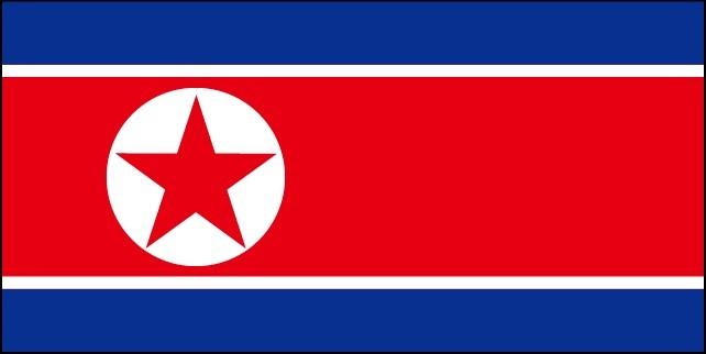 「朝鮮」の国旗。これから認知度が上がっていくだろう。