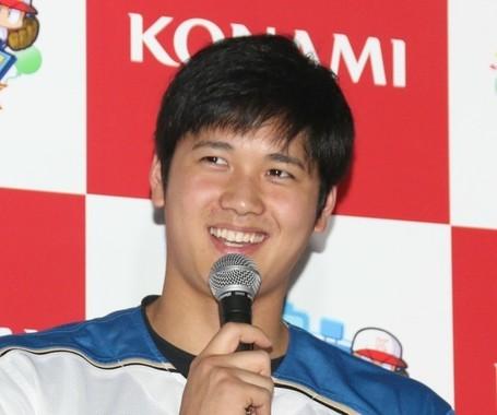 米メジャーリーグで大活躍の大谷翔平選手(写真は、2017年1月撮影。当時は北海道日本ハムファイターズ)