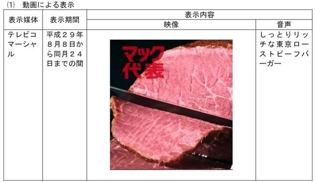 テレビCMでは、ブロック肉を使用しているかように……(消費者庁の資料から)