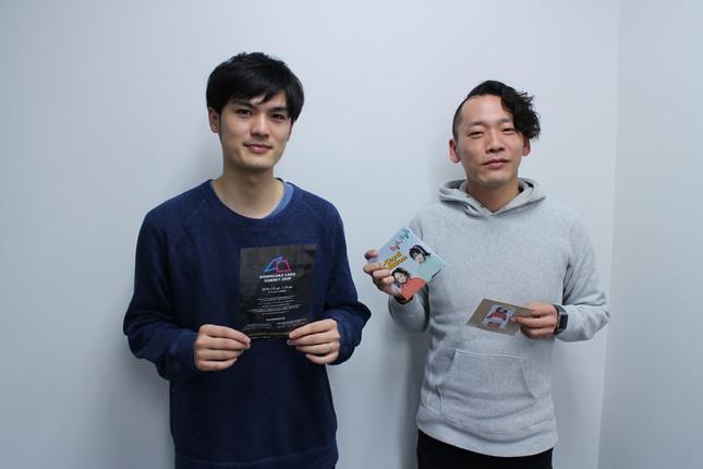クリプトン・フューチャー・メディアの笹原崇寛さん(左)とダイキサウンドの栗原幸祐さん(右)
