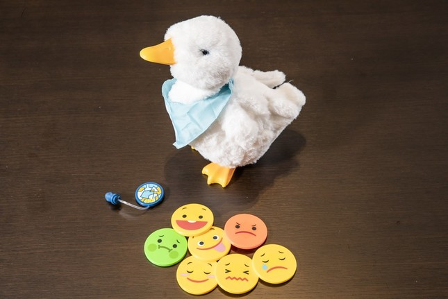 My Special Aflac Duckと付属する7つのカード 撮影:稲垣正倫