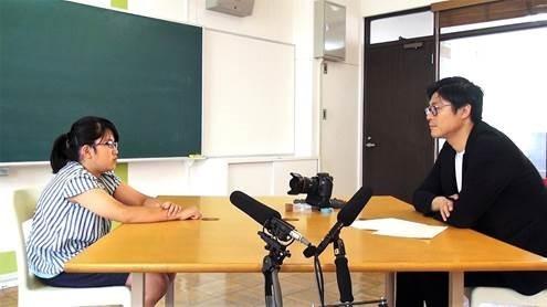 (株)ユーグレナの永田暁彦副社長が、「未来の大人たちに聞いてみた。」(画像は、ユーグレナが公開した動画から)
