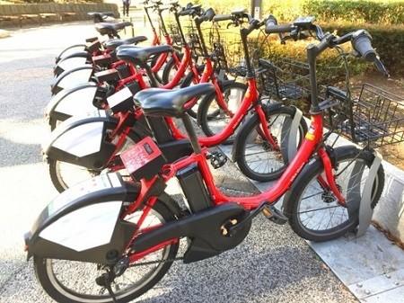 自転車シェアリングは街の風景の一つになってきた