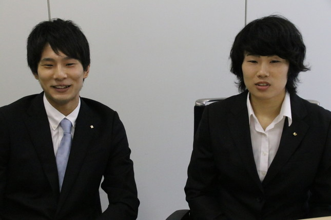 大石利樹さんは、兄姉のフェンシングを見て育った(写真は、左が大石利樹さん、右が大石栞菜さん)