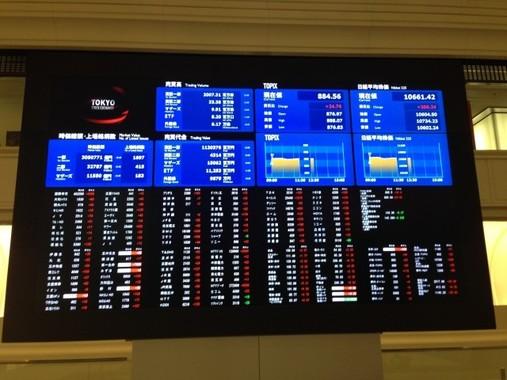 新型コロナウイルスの影響で株式市場は大混乱!(写真は、東京証券取引所)