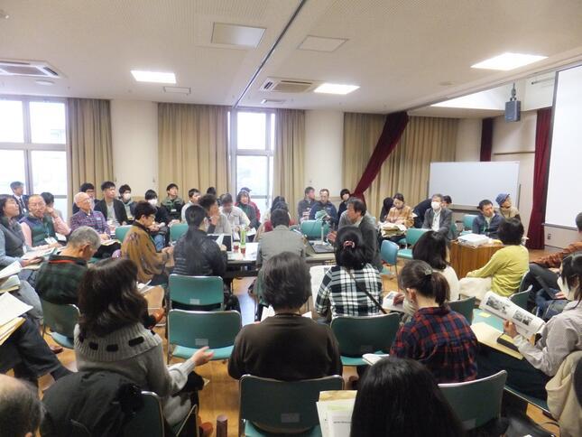 「環境NGO・NPOの交流会@垂井」のもよう(2020年2月8日開催。「NPO法人 泉京・垂井」提供)
