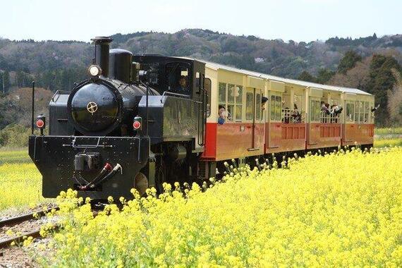 房総の小湊鉄道沿線の風景