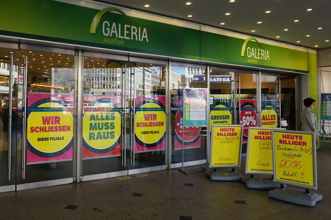 百貨店グループのガレリア・カールシュタット・カウフホーフは大量閉店を決定(筆者撮影)