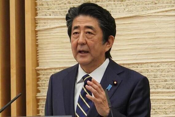 韓国メディアが「死に体」扱いしている安倍晋三首相(5月24日撮影)