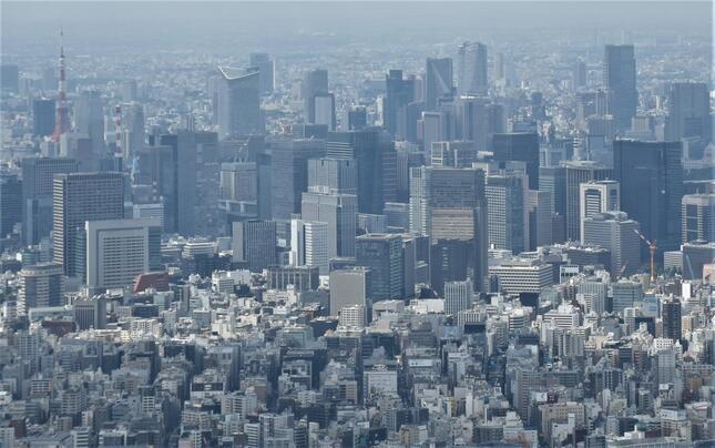 東京ビジネス地区のフィス空室率は5か月連続で上昇