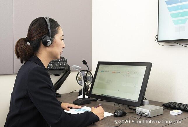 「interprefy」を利用した通訳では、仕事場が会議開催場所から、サイマル社内に併設された通訳センターに