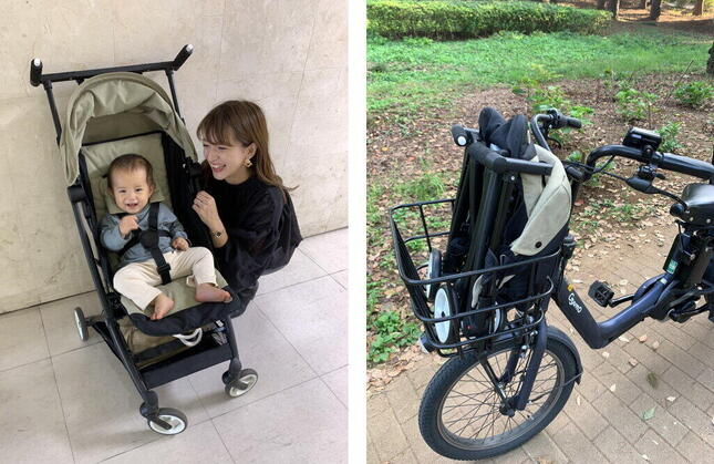自転車の前カゴのすっぽり収まる(右)最小サイズ