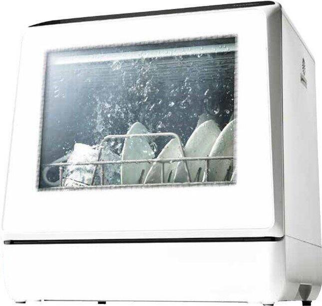 グランプリに輝いた「水道いらずのタンク式 食器洗い乾燥機 ラクア」 (サンコー製)