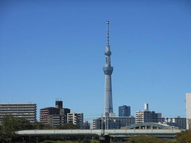 東京の観光名所の一つ、スカイツリー