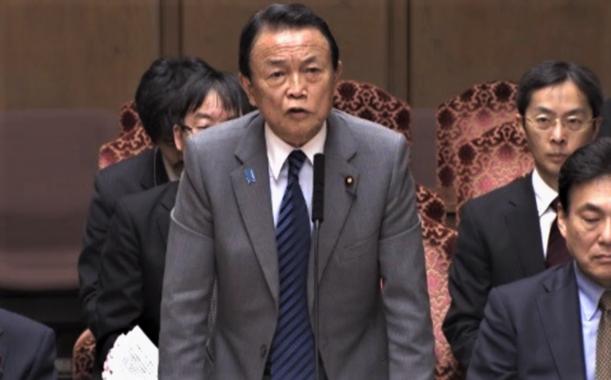 一律10万円の再給付「するつもりはない」と切って捨てた麻生太郎財務相(2020年3月、参議院インターネット動画より)