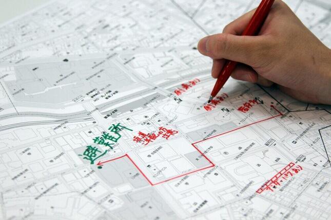 なぜ自宅付近の地図が必要?(画像は自主防災マップのイメージ、ゼンリン提供)