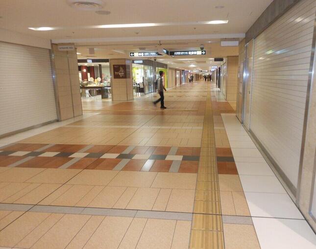2020年4~5月の緊急事態宣言時には店舗は軒並み休業した