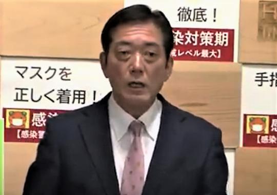 聖火リレーの中止を決めた中村時弘・愛媛県知事